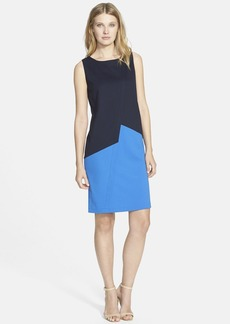 Lafayette 148 New York Asymmetrical Punto Milano Shift Dress