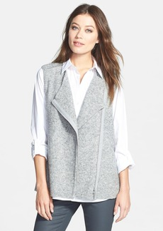 Lafayette 148 New York Asymmetrical Zip Sweater Vest