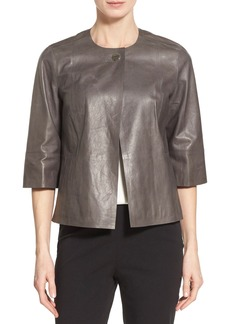 Lafayette 148 New York 'Athea' Glazed Lambskin Leather Topper
