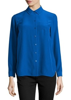 Lafayette 148 New York Autumn Long-Sleeve Silk Blouse