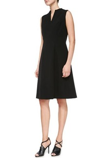 Lafayette 148 New York Ava Knit Split-Neck Dress