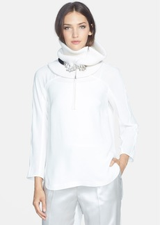 Lafayette 148 New York 'Azura' Silk Georgette Blouse