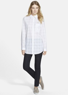 Lafayette 148 New York 'Babette' Plaid Cotton Blouse