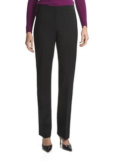 Lafayette 148 New York Barrow Contemporary Straight Leg Front-Zip Pants - Stretch Wool (For Women)
