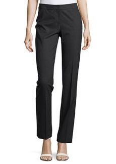 Lafayette 148 New York Barrow Straight-Leg Suiting Pants, Smoke