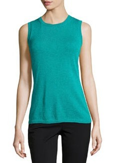 Lafayette 148 New York Basic Crewneck Sleeveless Tank, Dragonfly