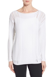 Lafayette 148 New York Bateau Neck Sweater