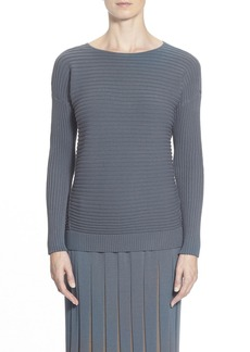 Lafayette 148 New York Bateau Neck Ribbed sweater