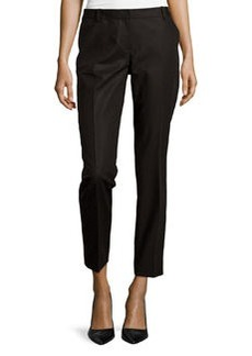 Lafayette 148 New York Bedford Slim-Leg Pants, Black