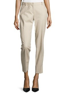 Lafayette 148 New York Bedford Slim Leg Pants, Khaki