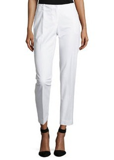 Lafayette 148 New York Bedford Slim Leg Pants, White