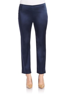 LAFAYETTE 148 NEW YORK Belle Satin Cloth Stanton Pant