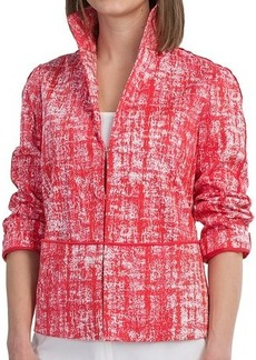 Lafayette 148 New York Bellene Stretch Cotton Jacket - 3/4 Sleeve (For Women)