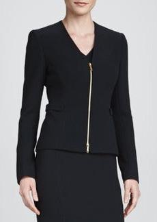 Lafayette 148 New York Betha Golden-Zip-Front Jacket