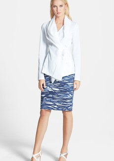 Lafayette 148 New York 'Bethany' Italian Stretch Cotton Blend Jacket