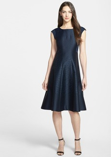 Lafayette 148 New York 'Bev' Jacquard Fit & Flare Dress