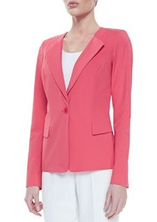 Lafayette 148 New York Bi-Stretch One-Button Jacket, Geranium