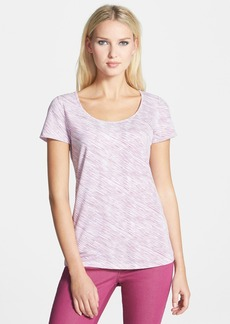 Lafayette 148 New York Bias Stripe Scoop Neck Tee