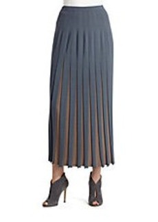 LAFAYETTE 148 NEW YORK Bicolor Pleated Skirt