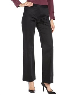 Lafayette 148 New York black stretch cotton classic pants