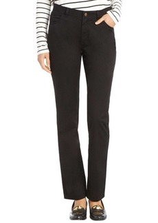 Lafayette 148 New York black stretch cotton woven 'Curvy Slim Leg' pants