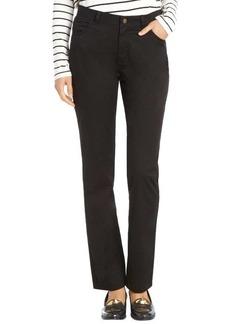 Lafayette 148 New York black stretch cotton woven 'Curvy Slim Leg' pants