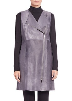 Lafayette 148 New York Blaise Calf Hair & Leather Vest