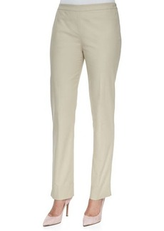 Lafayette 148 New York Bleecker Bi-Stretch Side-Zip Pants