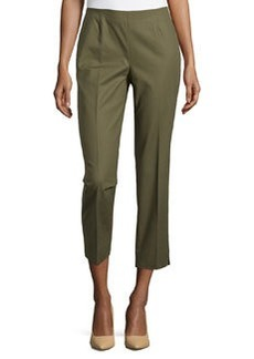 Lafayette 148 New York Bleecker Cropped Pants, Kale