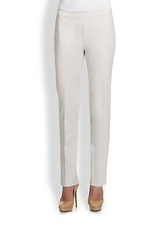 Lafayette 148 New York Bleecker Side-Zip Slim Pants