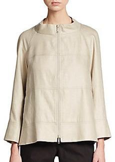 Lafayette 148 New York Bracelet-Sleeve Linen Jacket