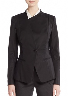 Lafayette 148 New York Bridgette Stretch Cotton Blazer