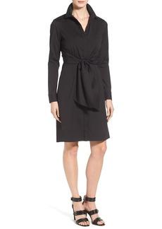 Lafayette 148 New York 'Brielle' Stretch Cotton Waist Wrap Shirtdress