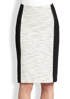 Lafayette 148 New York Brogan Colorblock Skirt