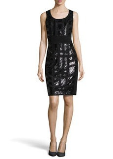 Lafayette 148 New York Brooke Beaded Dress, Black