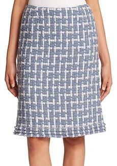 Lafayette 148 New York Brulee Scottish Tweed Adalyn Skirt