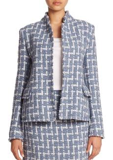 Lafayette 148 New York Brulee Scottish Tweed Hollis Jacket
