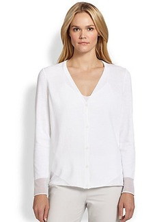 Lafayette 148 New York Burnout-Trim Cardigan