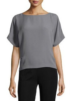 Lafayette 148 New York Button-Hem Dolman Tunic, Cinder
