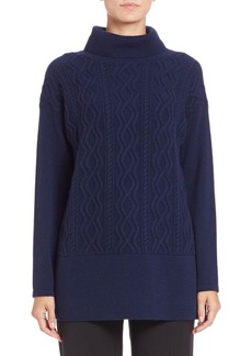 Lafayette 148 New York Cable-Knit Turtleneck Tunic
