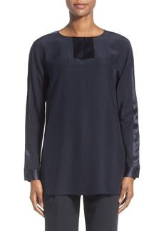 Lafayette 148 New York 'Cailyn' Matte Silk Blouse