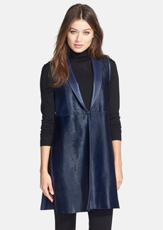 Lafayette 148 New York Calf Hair & Leather Vest