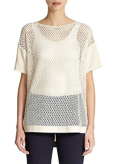 Lafayette 148 New York Camira Cutout-Detail Top