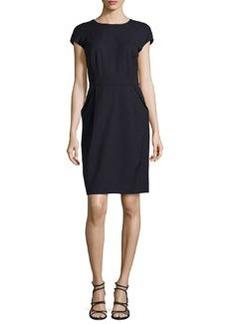 Lafayette 148 New York Cap-Sleeve Angled Pocket Dress