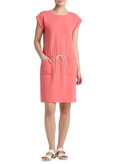Lafayette 148 New York Cap-Sleeve Drawstring Dress, Bellini