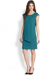 Lafayette 148 New York Cap-Sleeve Layered Sheath