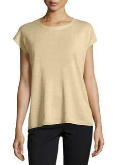 Lafayette 148 New York Cap-Sleeve Open-Back Sweater