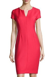 Lafayette 148 New York Cap-Sleeve Sheath Dress, Dynamite