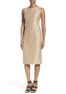 Lafayette 148 New York 'Carmela - Petra' Jacquard Sheath Dress