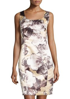 Lafayette 148 New York Carol Scoop-Neck Floral Sheath Dress